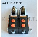 8/3-Wegeventil NG10 24V DC - mit Leckölanschluss...