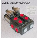 8/3-Wegeventil NG06 12V DC Monoblock - mit...