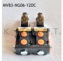 8/3-Wegeventil NG06 12V DC - mit Leckölanschluss...