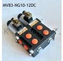 8/3-Wegeventil NG10 12V DC - mit Leckölanschluss...