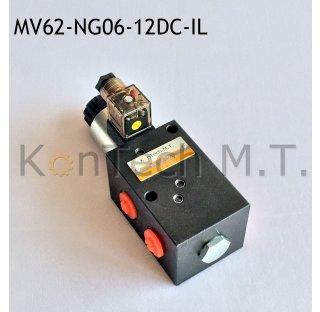 6/2-Wegeventil NG06 12V DC - interne Leckage inkl. Stecker