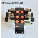 Set: Zwei Modulare Magnetventile 4/3-Wege 12V DC inkl....
