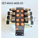 Set: Drei Modulare Magnetventile 4/3-Wege 12V DC inkl....