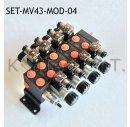 Set: Vier Modulare Magnetventile 4/3-Wege 12V DC inkl....