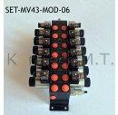 Set: Sechs Modulare Magnetventile 4/3-Wege 12V DC inkl....